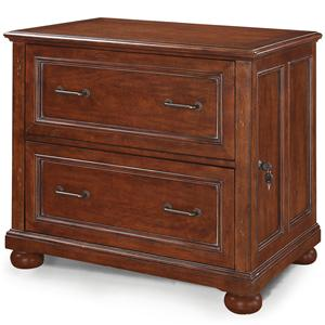 Lateral File Cabinet with 2 Locking File Drawers