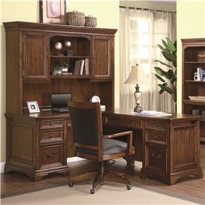 Flexsteel Wynwood Collection Valencia L-Shaped Desk with Hutch