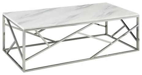 Carole Marble Top Coffee Table by Xcella at Upper Room Home Furnishings
