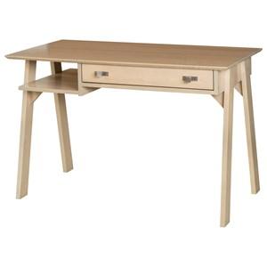 Denali Contemporary Writing Desk with Shelf