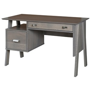 Denali Contemporary Writing Desk with Two Drawers