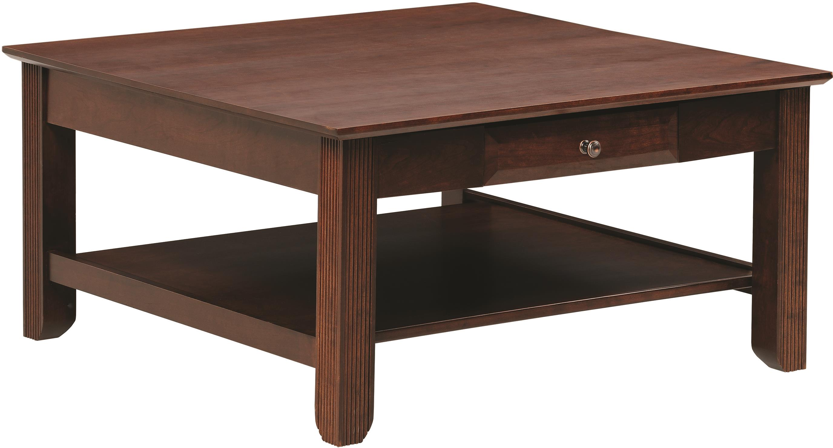 Arlington Square Coffee Table by Y & T Woodcraft at Saugerties Furniture Mart