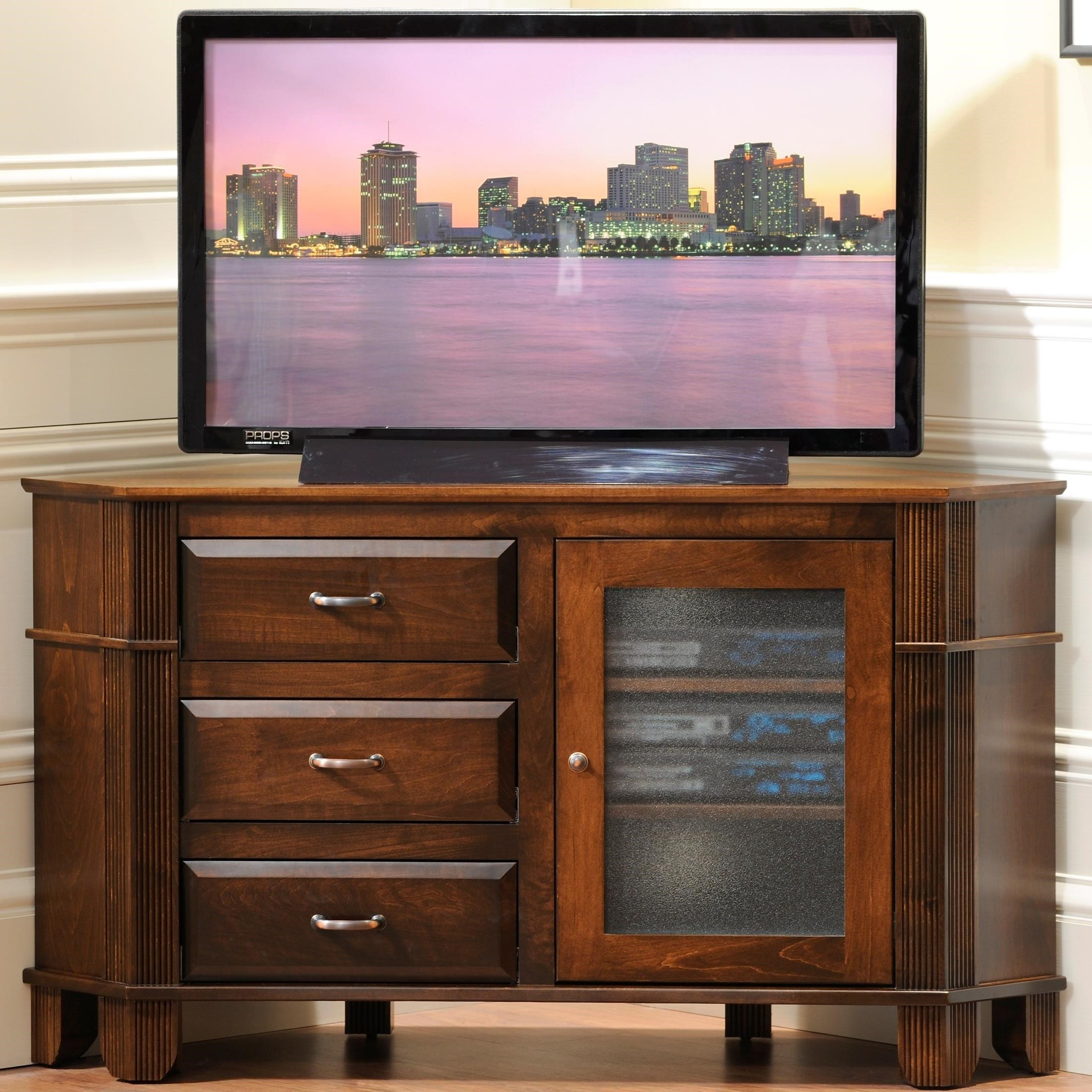 """Arlington 52"""" Corner TV Stand by Y & T Woodcraft at Saugerties Furniture Mart"""
