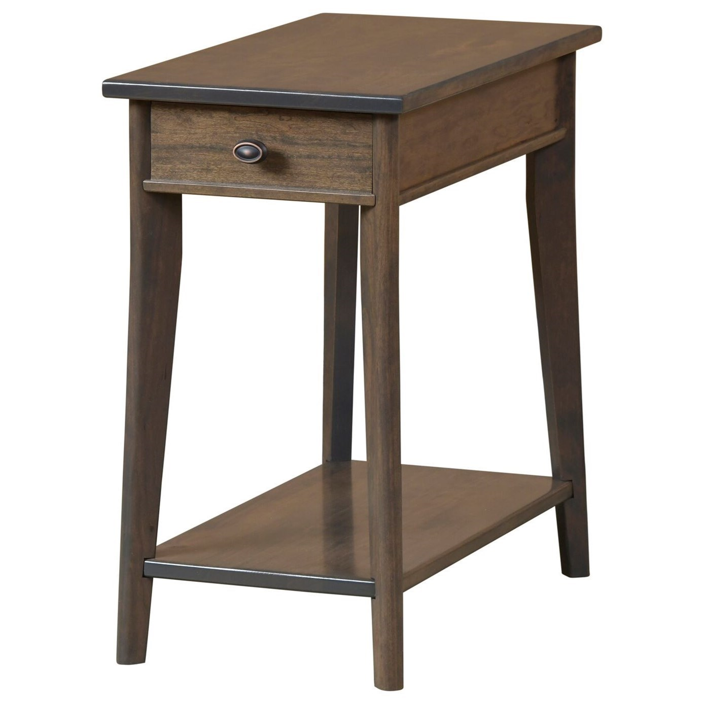 Austin Chairside Table by Y & T Woodcraft at Saugerties Furniture Mart