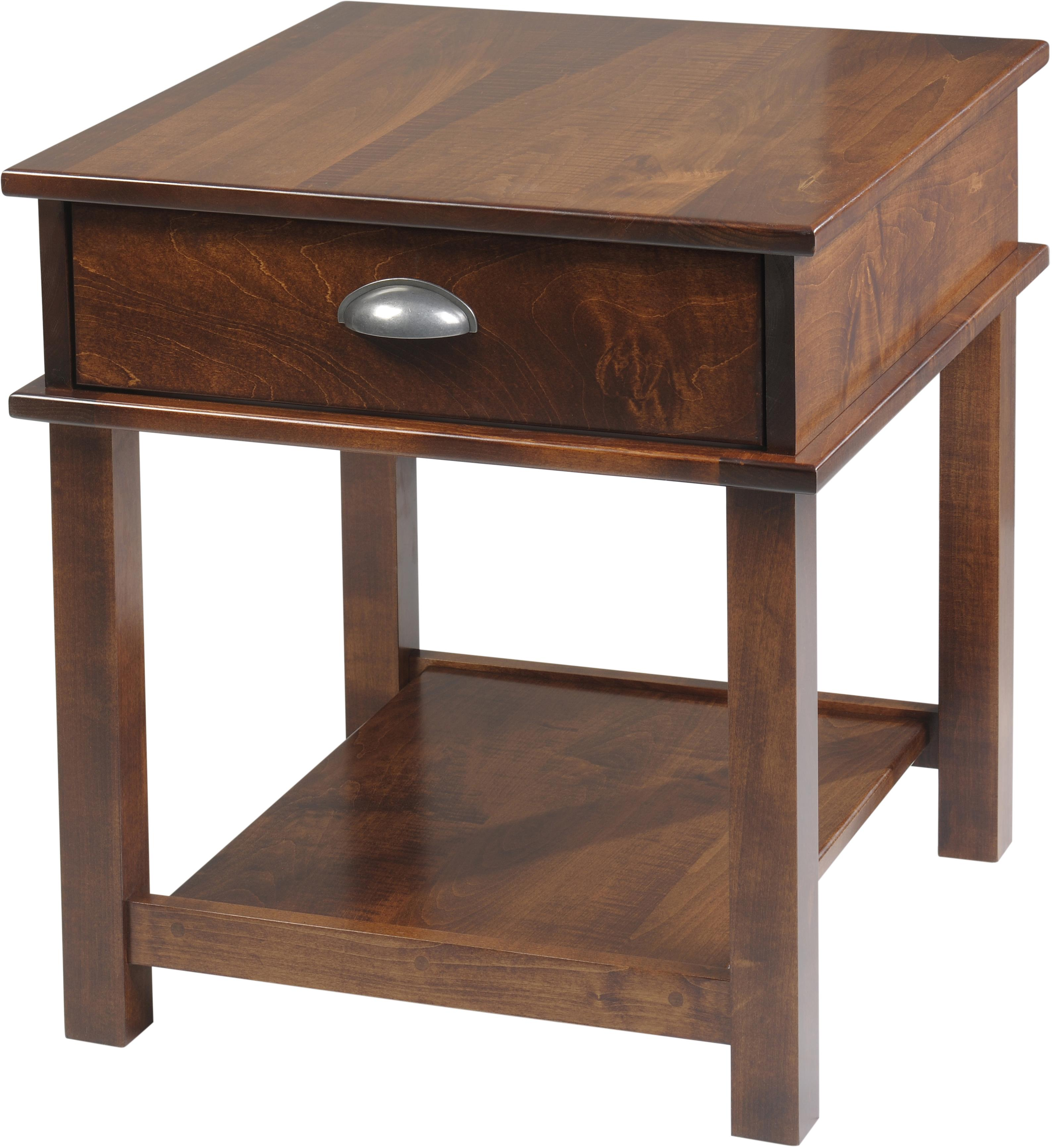 Buckhannon End Table by Y & T Woodcraft at Saugerties Furniture Mart