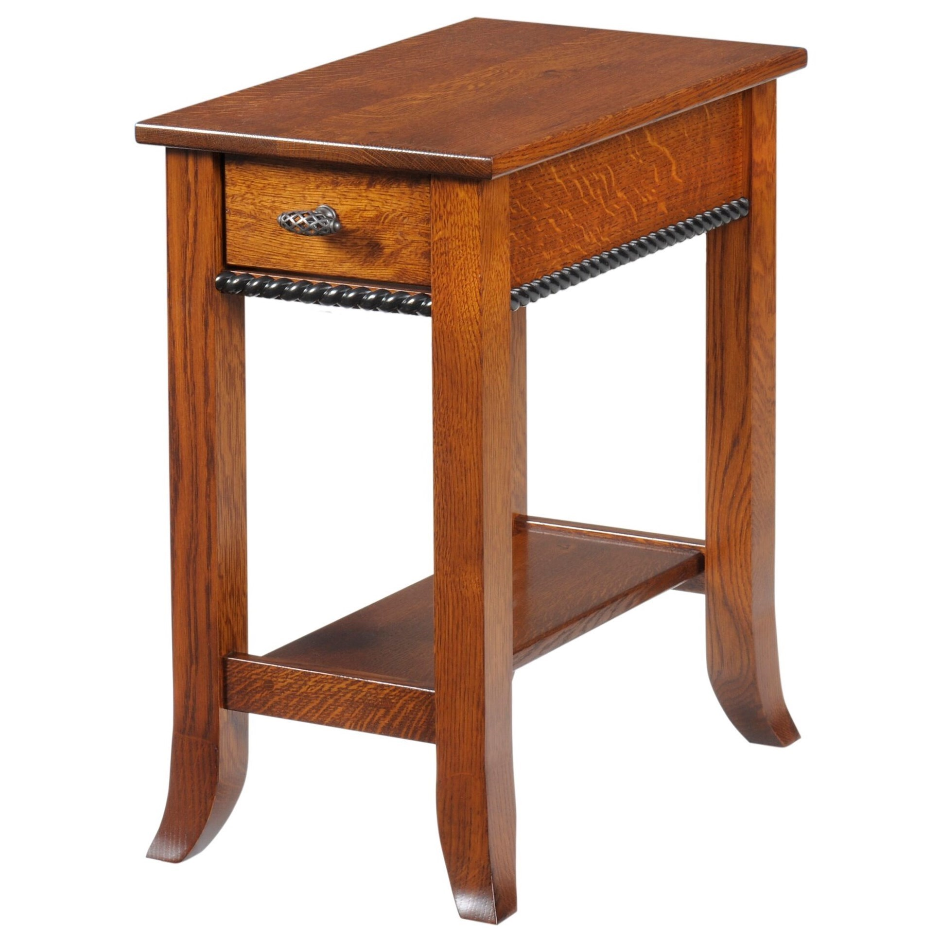Cranberry Chairside Table by Y & T Woodcraft at Saugerties Furniture Mart