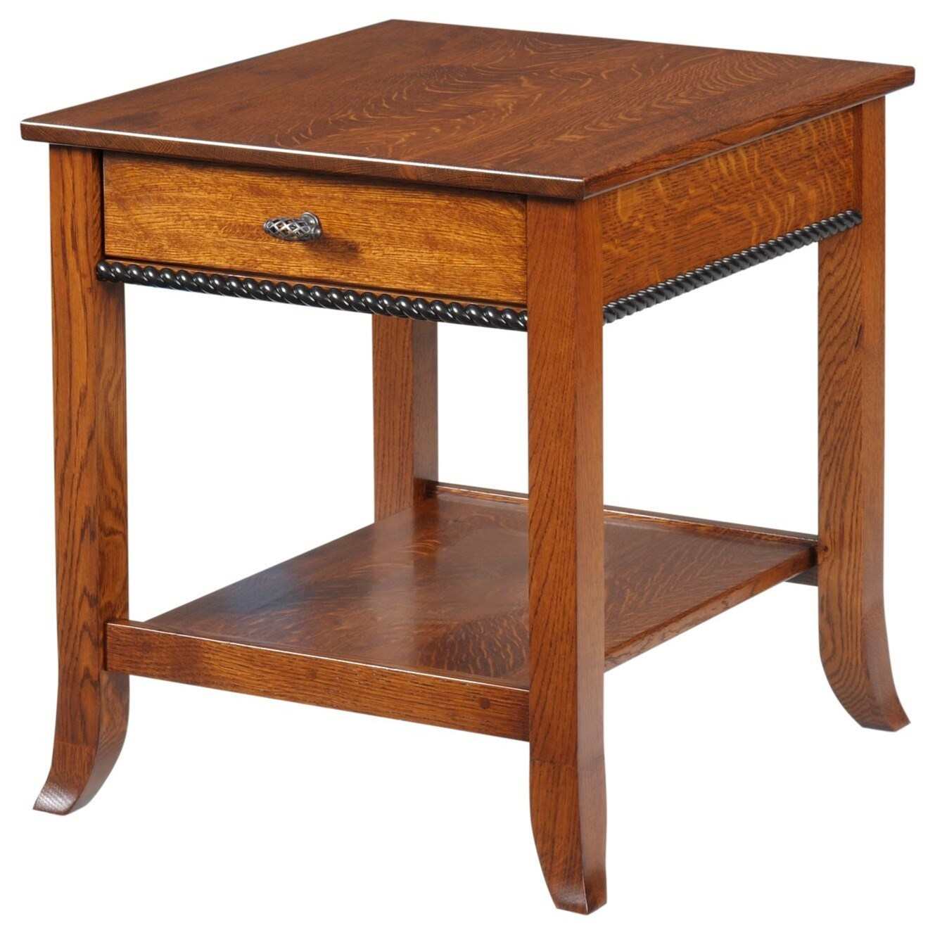 Cranberry End Table by Y & T Woodcraft at Saugerties Furniture Mart
