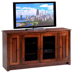 "60"" TV Stand with Four Doors"