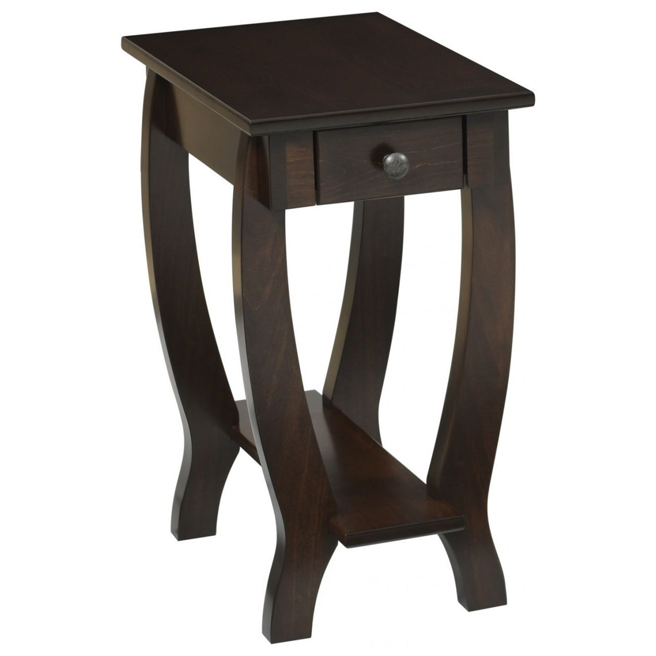 Fairport Chairside Table by Y & T Woodcraft at Saugerties Furniture Mart