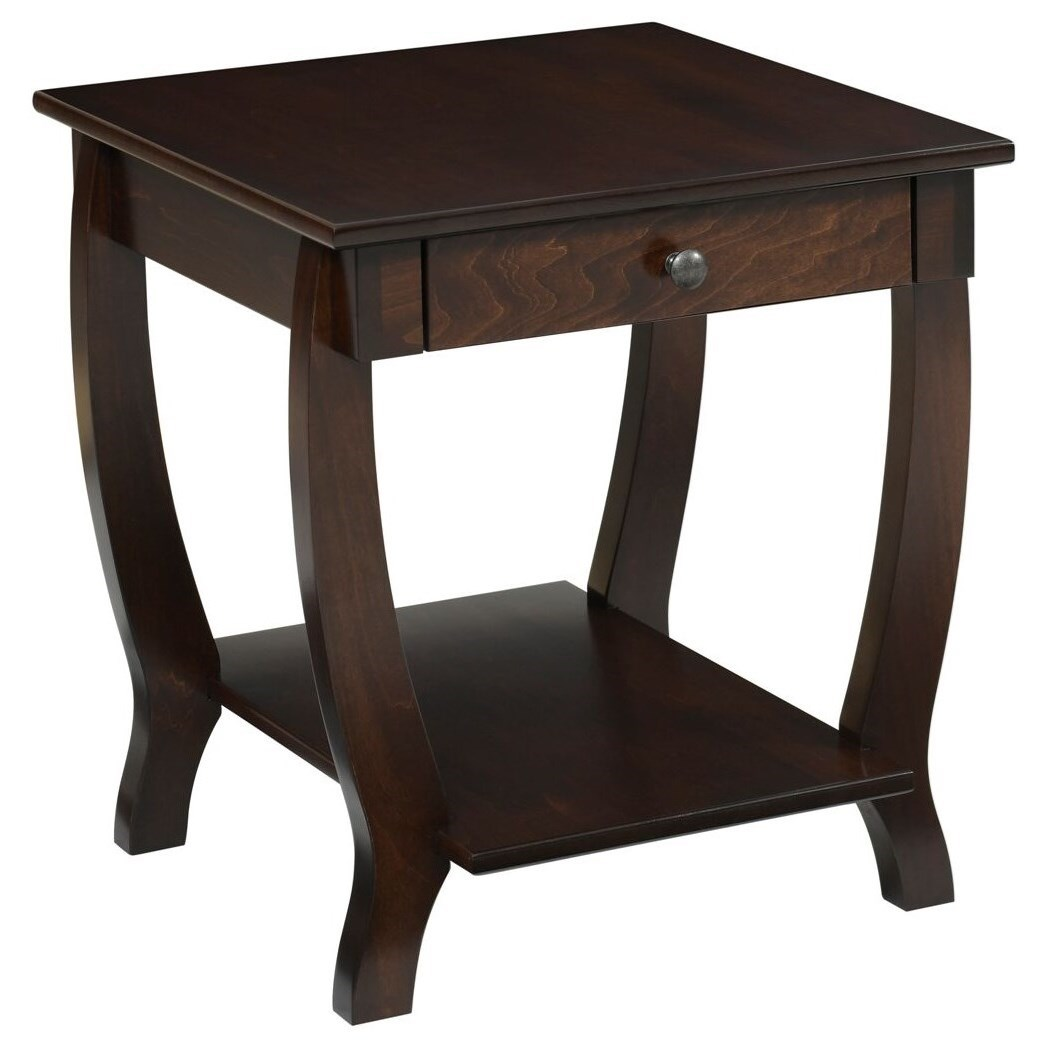Fairport End Table by Y & T Woodcraft at Saugerties Furniture Mart