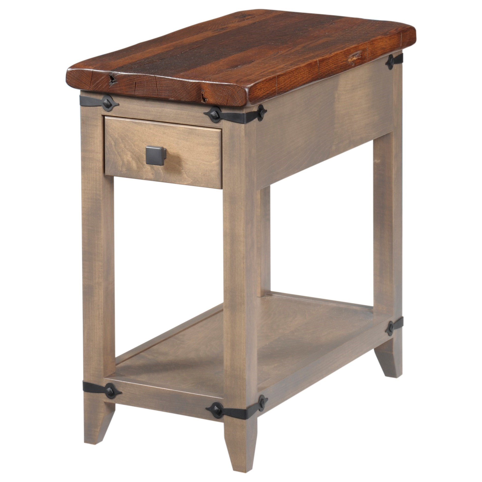 Frontier Chairside Table by Y & T Woodcraft at Saugerties Furniture Mart