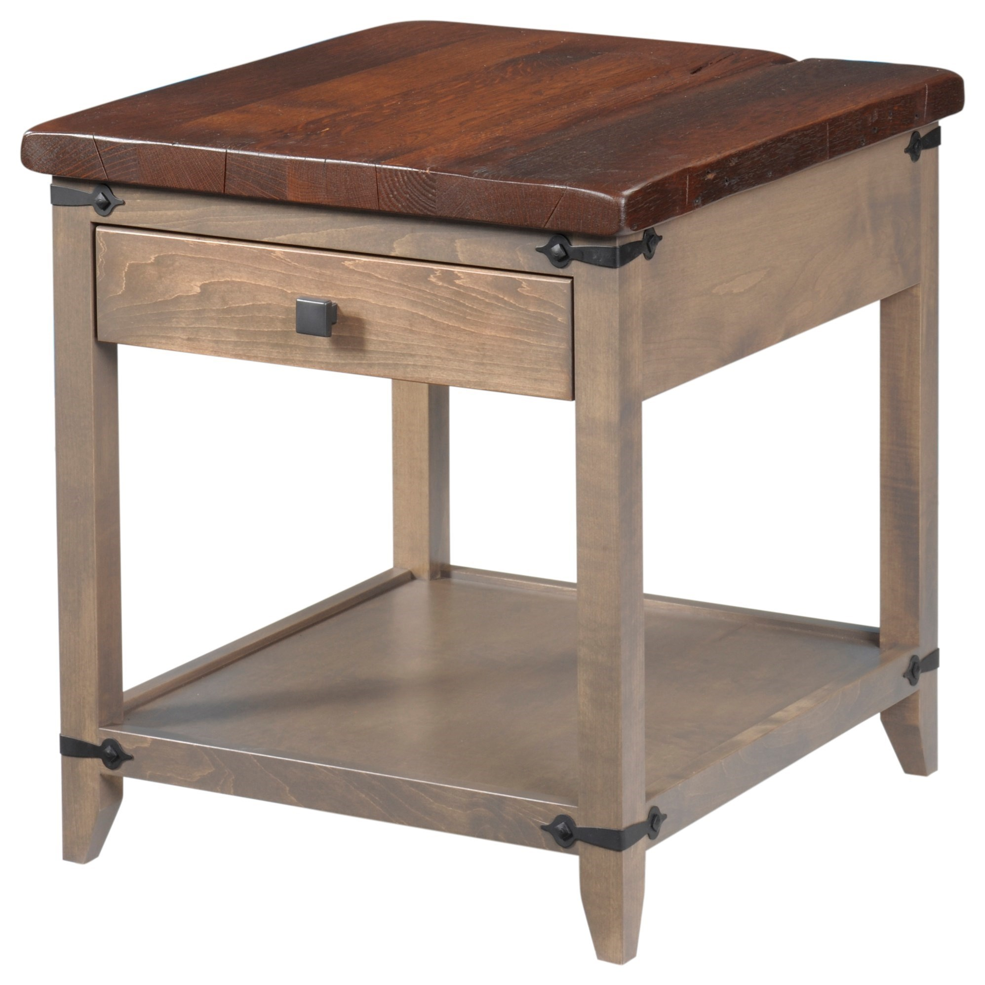 Frontier End Table by Y & T Woodcraft at Saugerties Furniture Mart