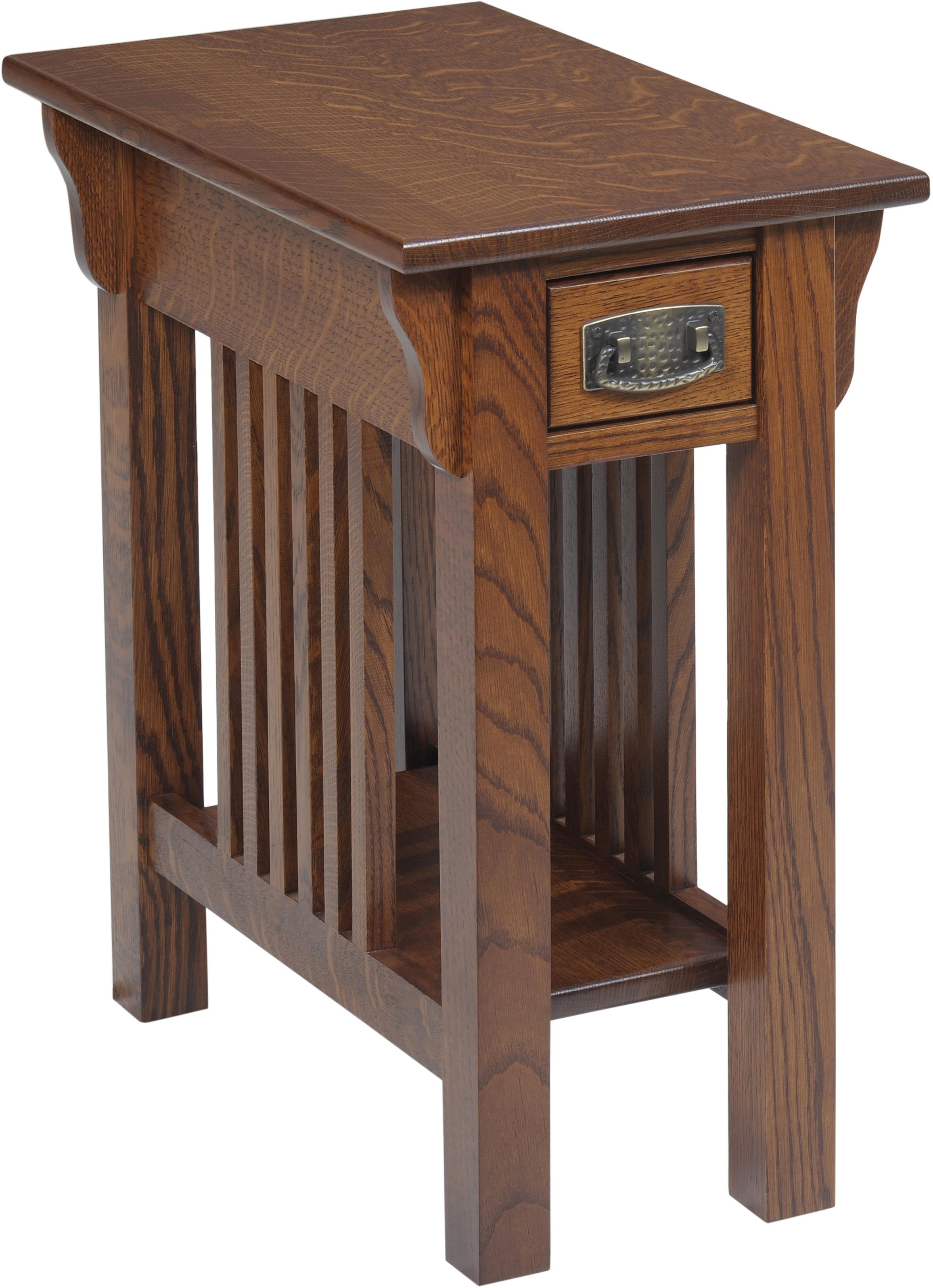 Lexington Mission Chairside Table by Y & T Woodcraft at Saugerties Furniture Mart