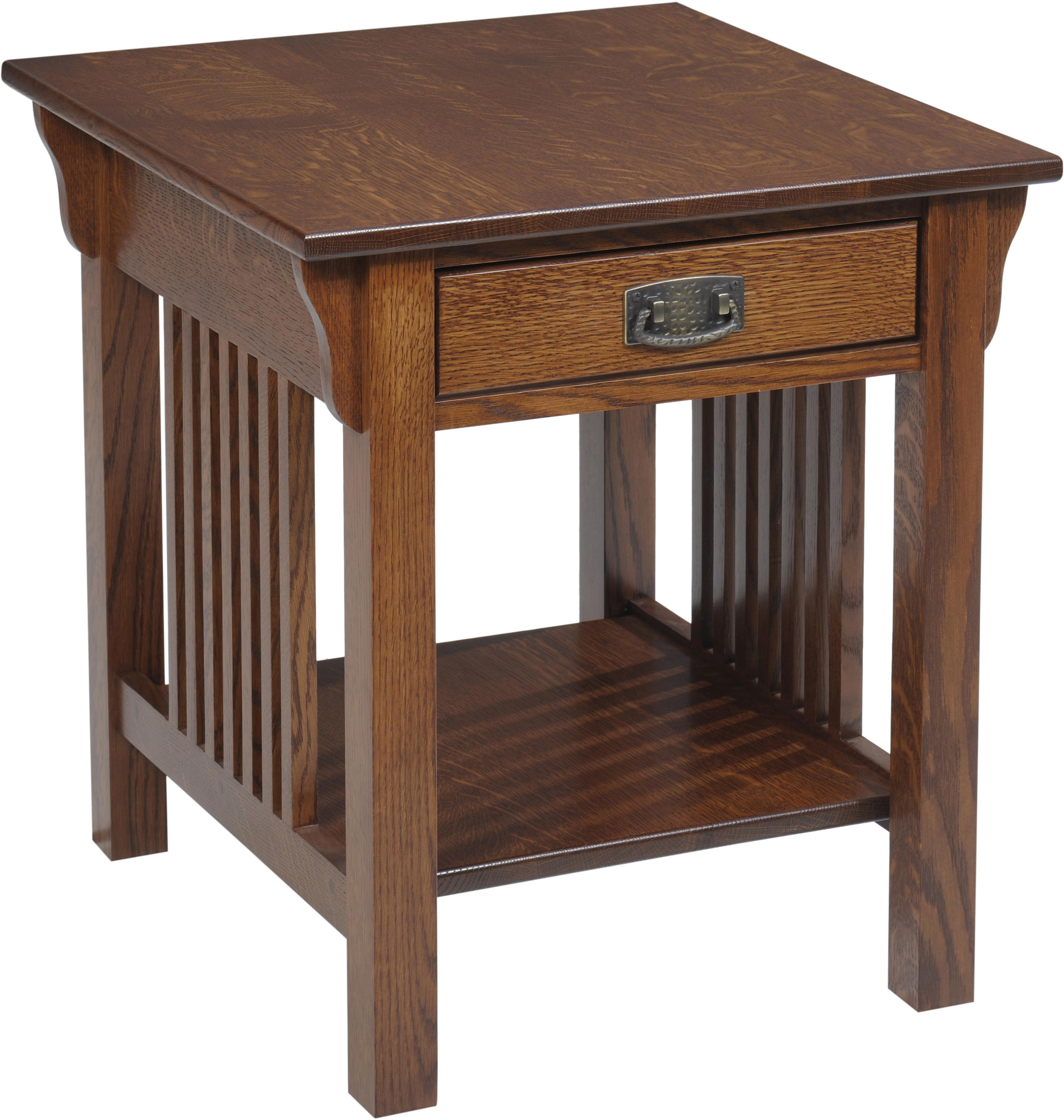 Lexington Mission End Table by Y & T Woodcraft at Saugerties Furniture Mart