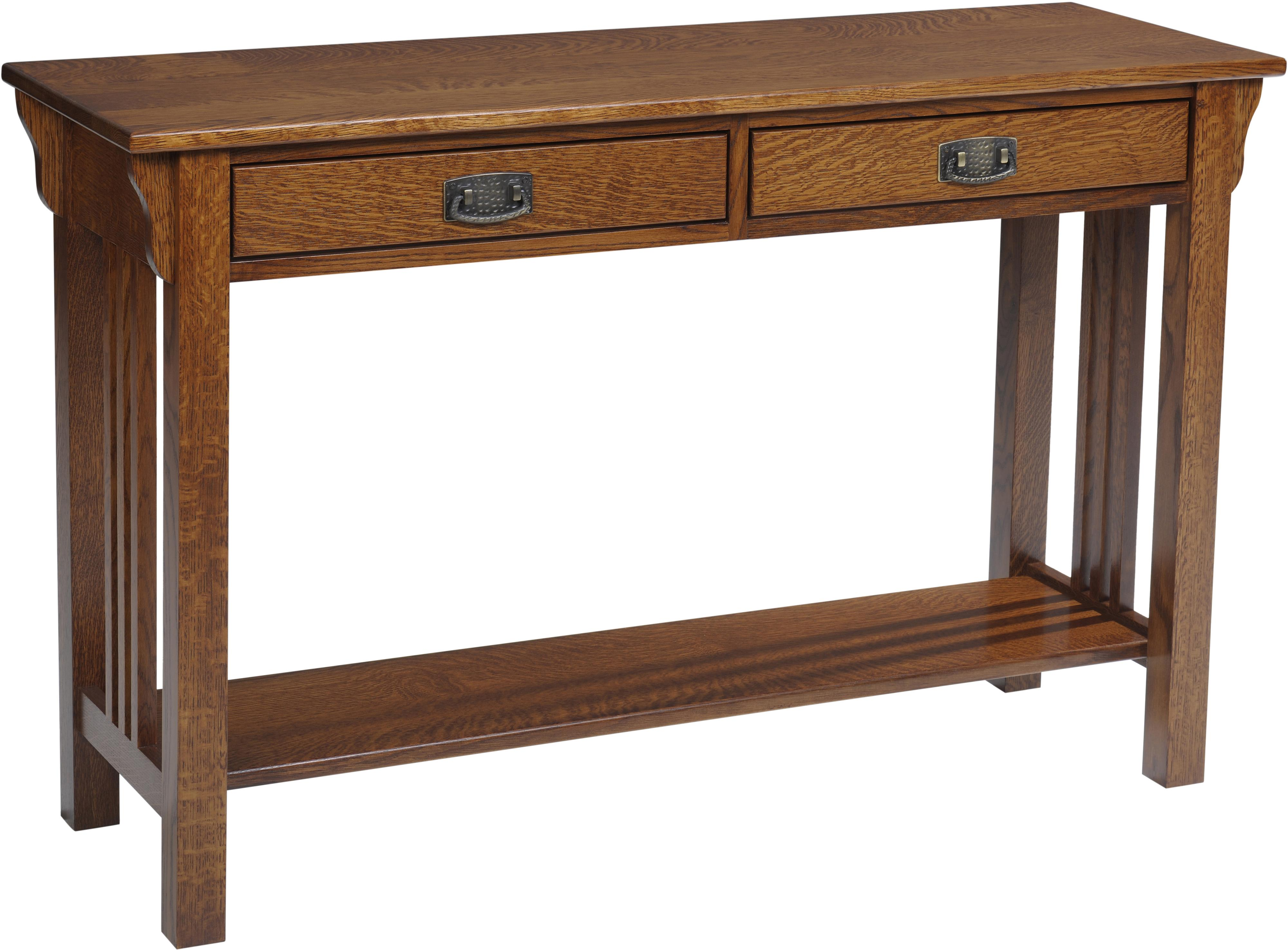 Lexington Mission Hall Table by Y & T Woodcraft at Saugerties Furniture Mart