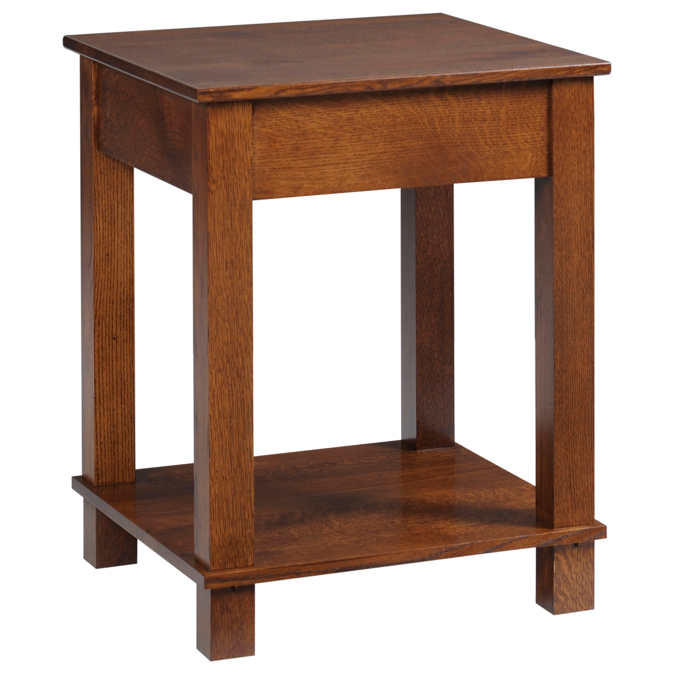 Mission Modular Corner Table by Y & T Woodcraft at Saugerties Furniture Mart