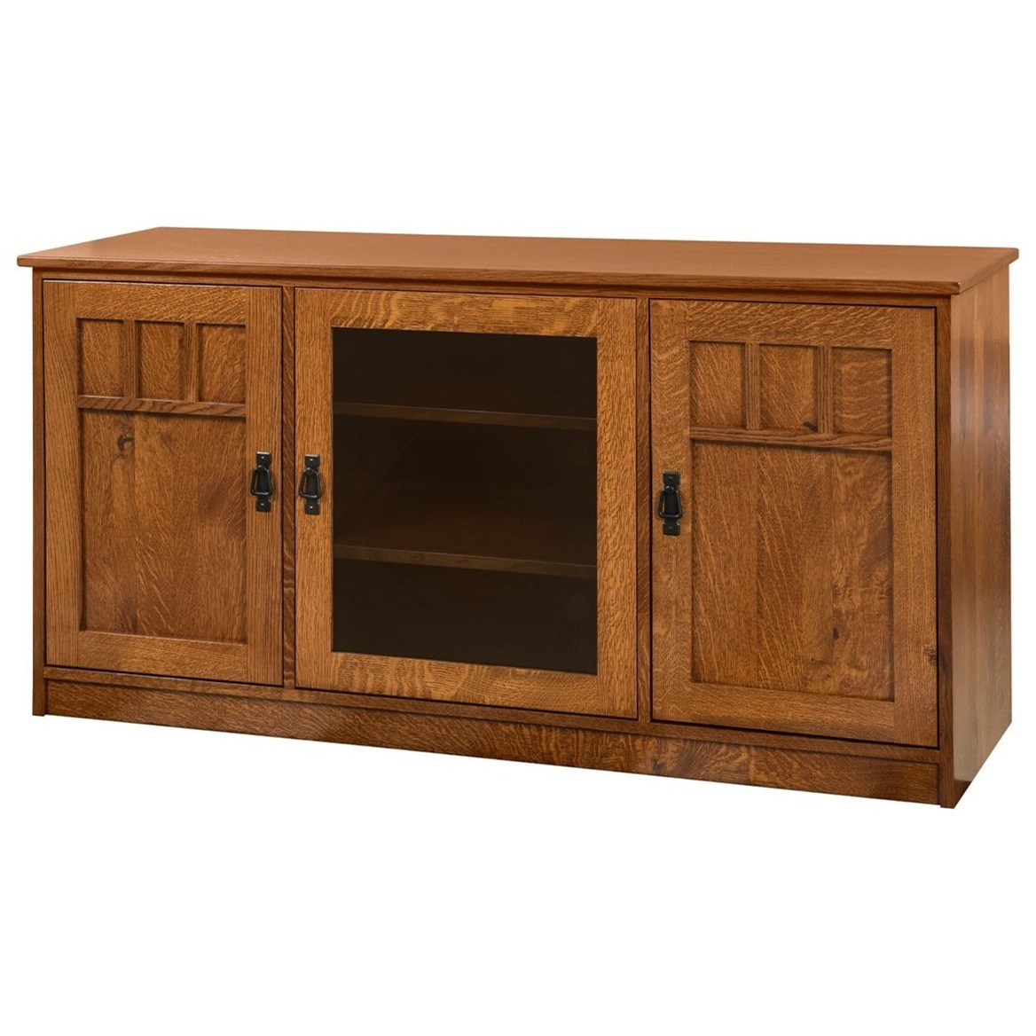 Mission TV Stand by Y & T Woodcraft at Saugerties Furniture Mart