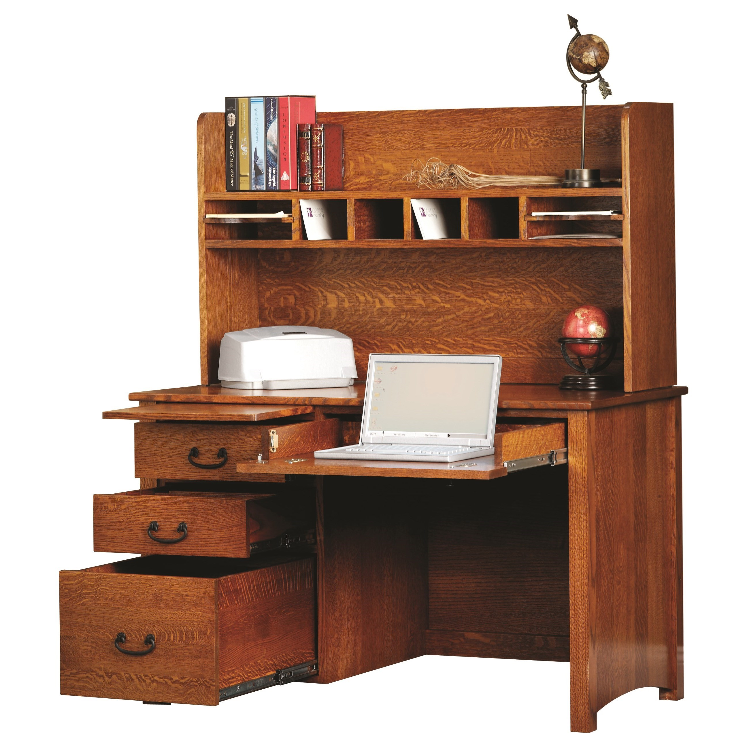 Rivertown Home Office Desk and Hutch by Y & T Woodcraft at Saugerties Furniture Mart