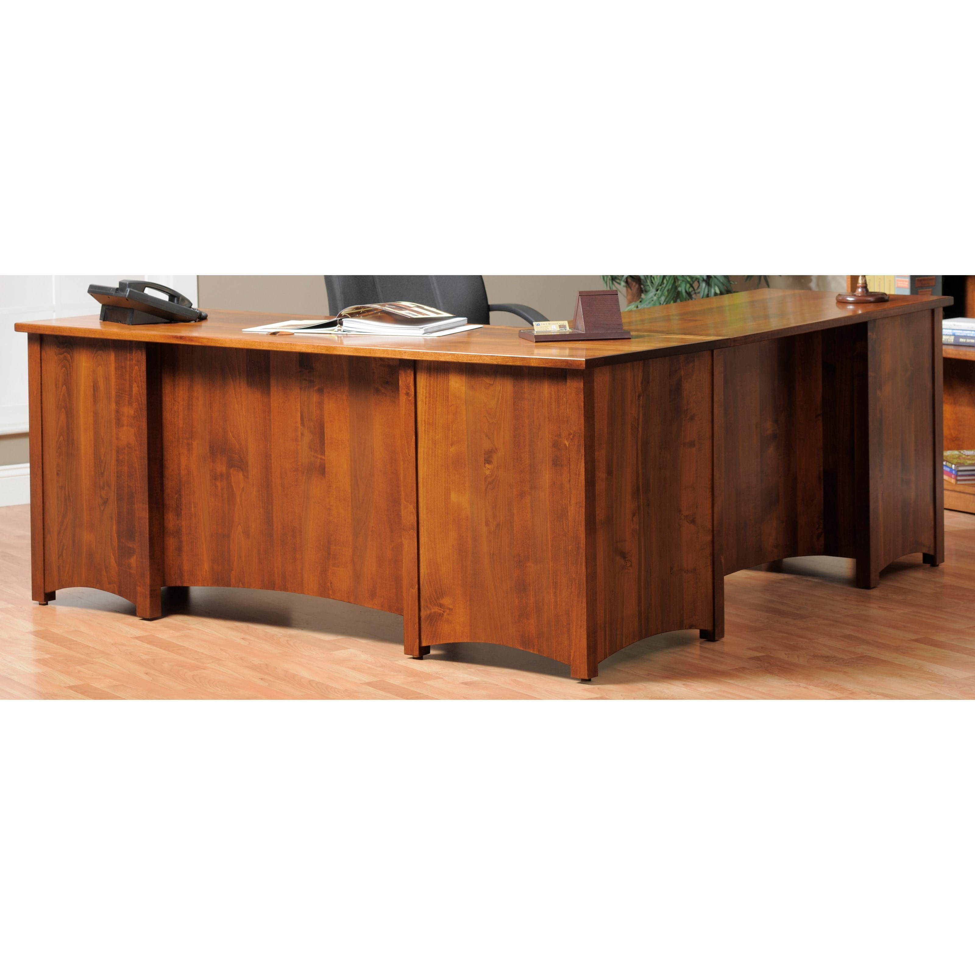 Rivertown Home Office L-Desk and Hutch by Y & T Woodcraft at Saugerties Furniture Mart