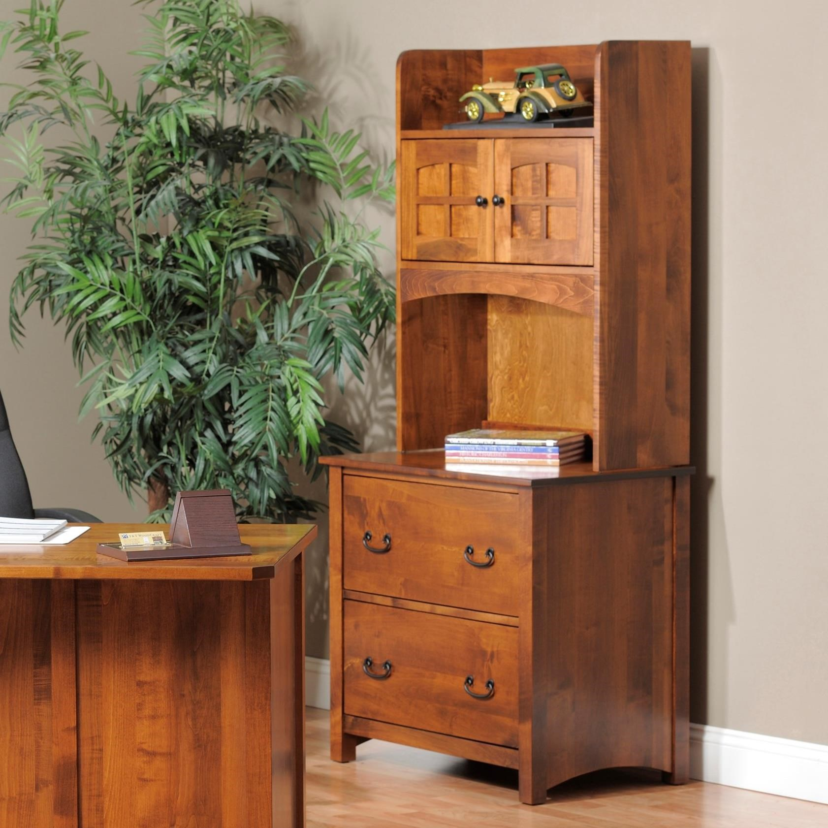 Rivertown Home Office Lateral File Cabinet and Hutch by Y & T Woodcraft at Saugerties Furniture Mart