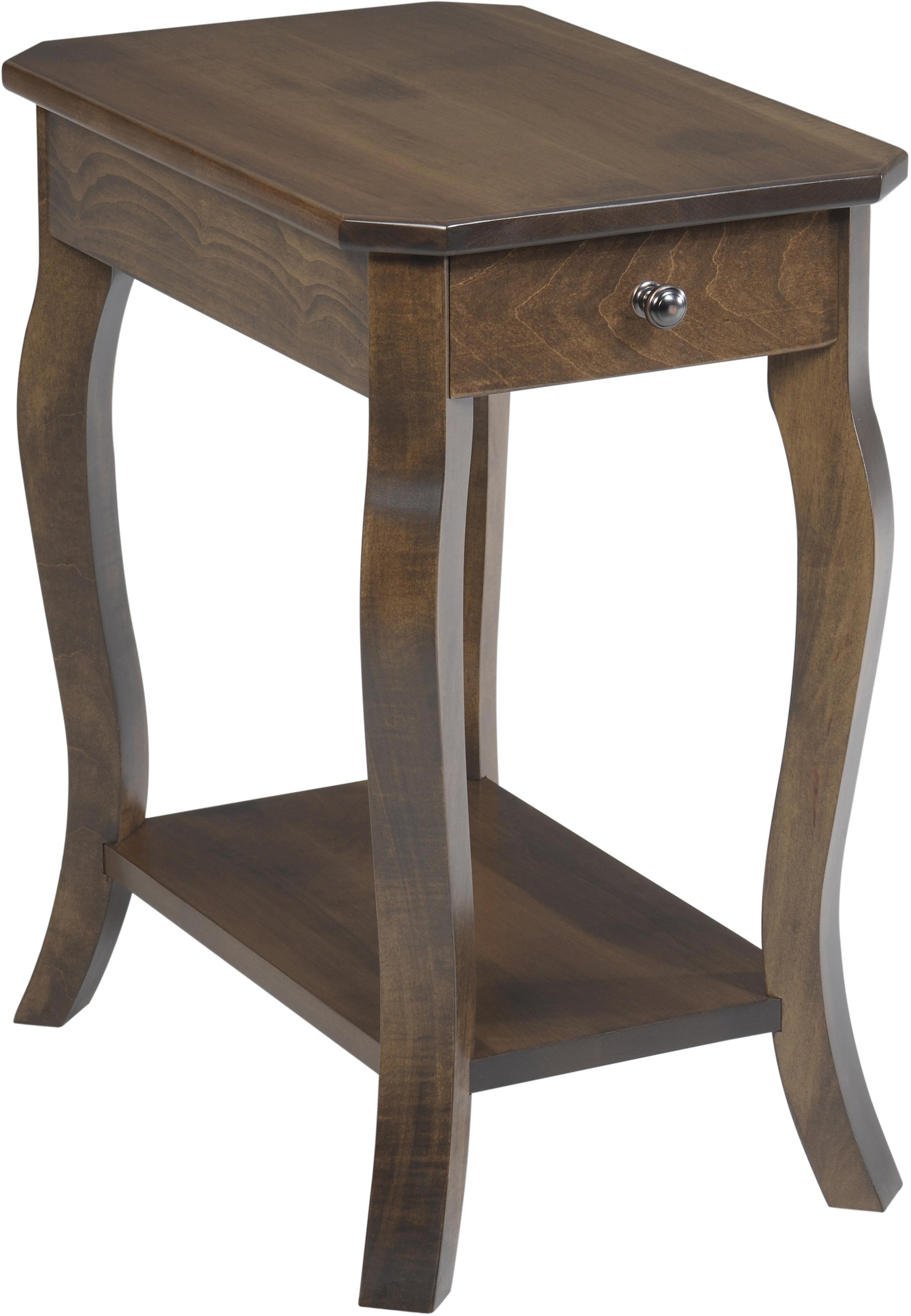 Sundance Chairside Table by Y & T Woodcraft at Saugerties Furniture Mart