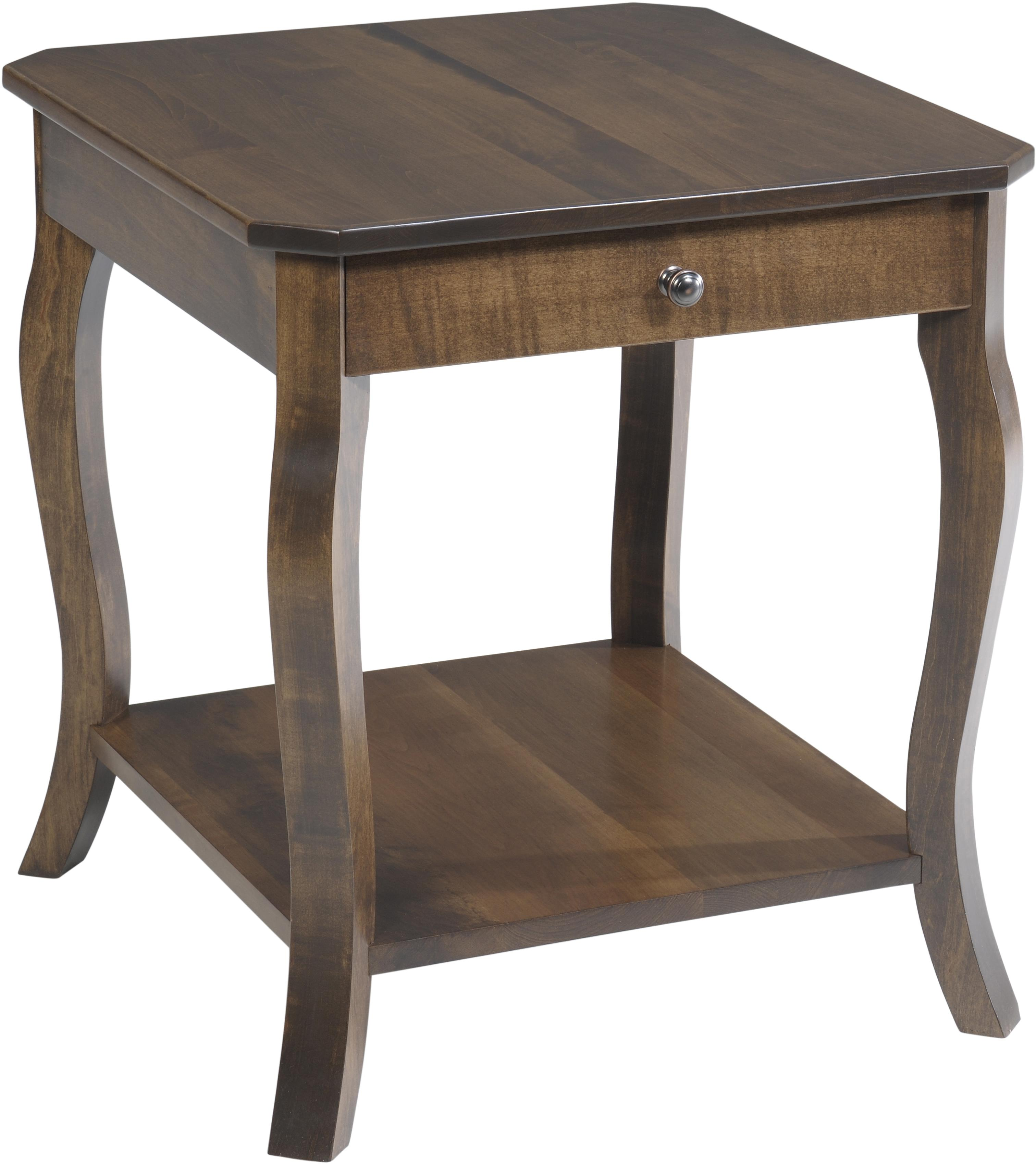 Sundance End Table by Y & T Woodcraft at Saugerties Furniture Mart