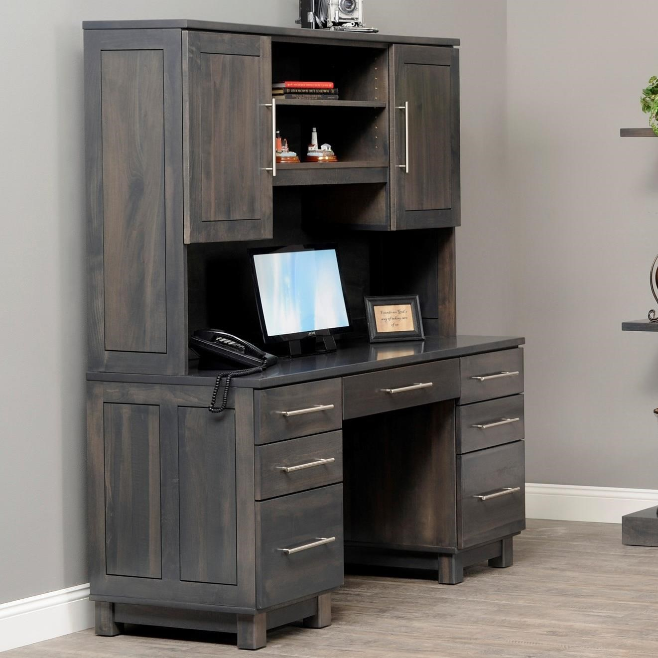 Urban Office Desk and Hutch by Y & T Woodcraft at Saugerties Furniture Mart