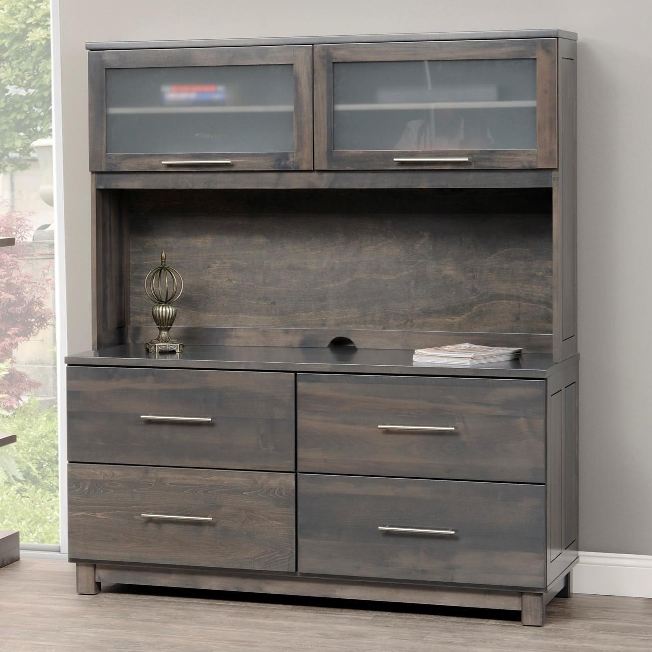 Urban Office Credenza and Hutch by Y & T Woodcraft at Saugerties Furniture Mart