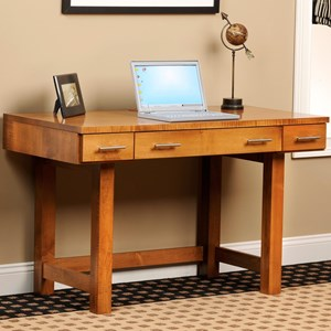 Table Desk with Paper and Letter Boxes