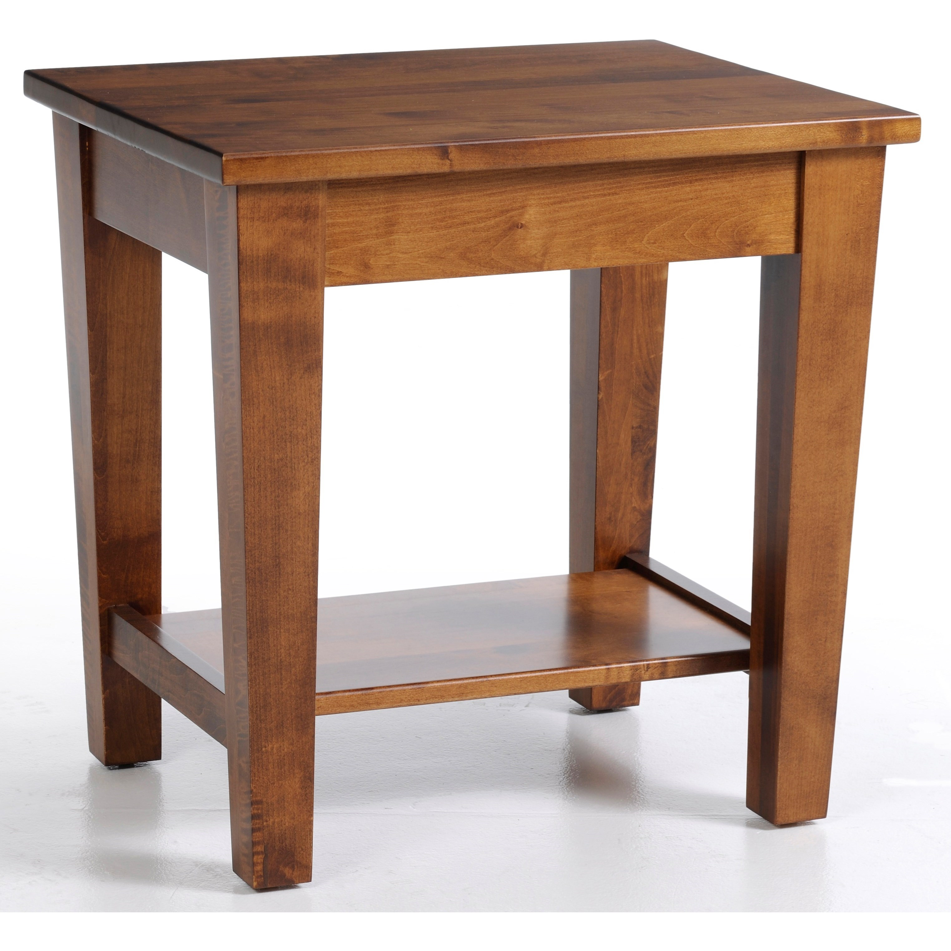 Urban Shaker End Table by Y & T Woodcraft at Saugerties Furniture Mart