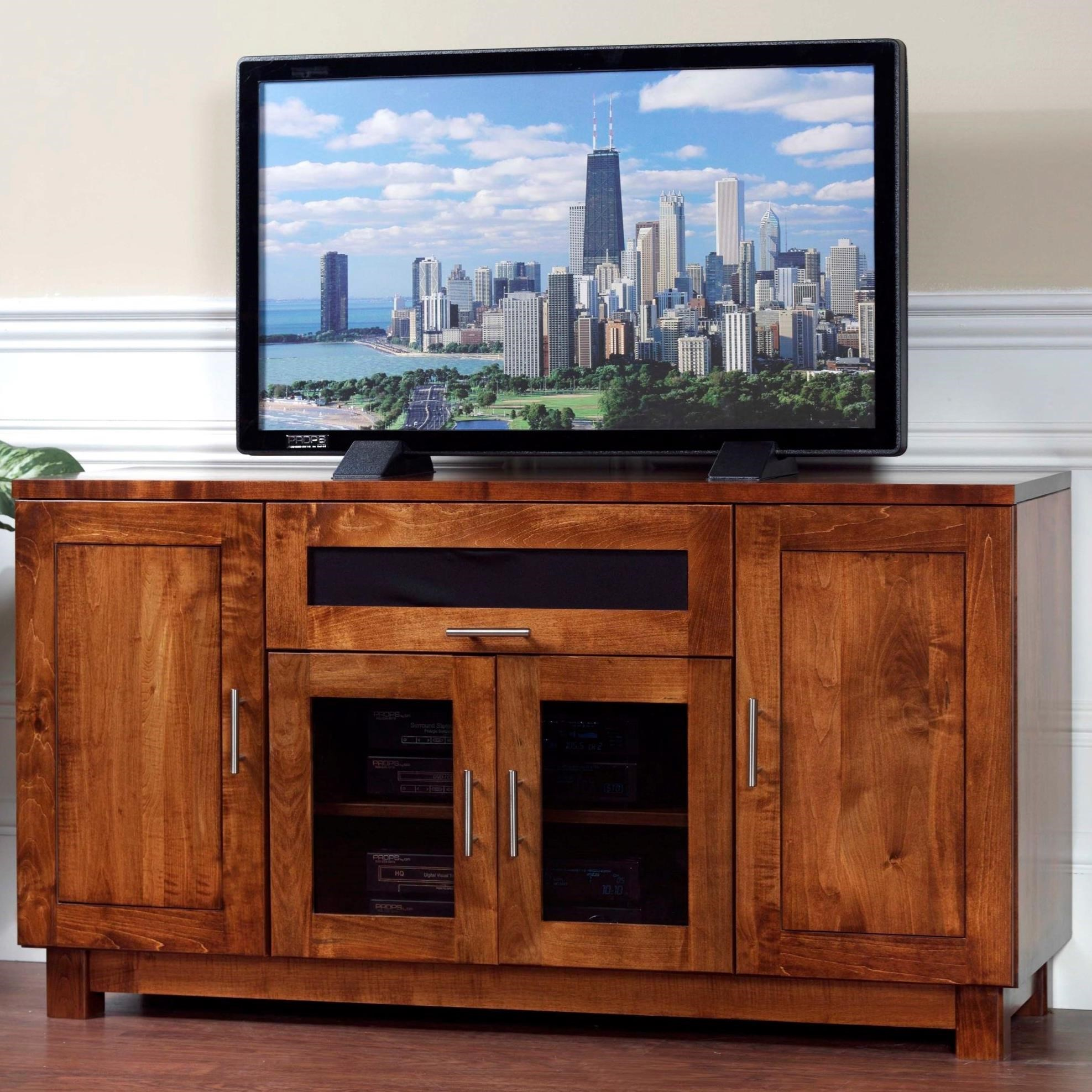 """Urban Shaker 55"""" TV Stand by Y & T Woodcraft at Saugerties Furniture Mart"""