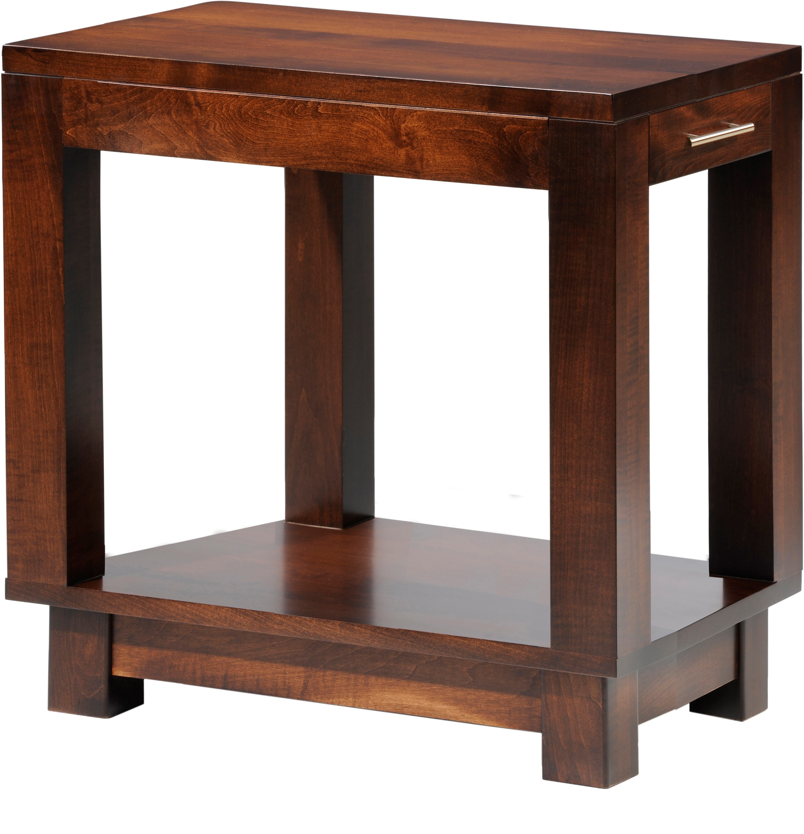 Urban Chairside Table by Y & T Woodcraft at Saugerties Furniture Mart