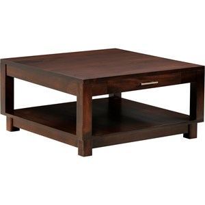Square Coffee Table with Drawer