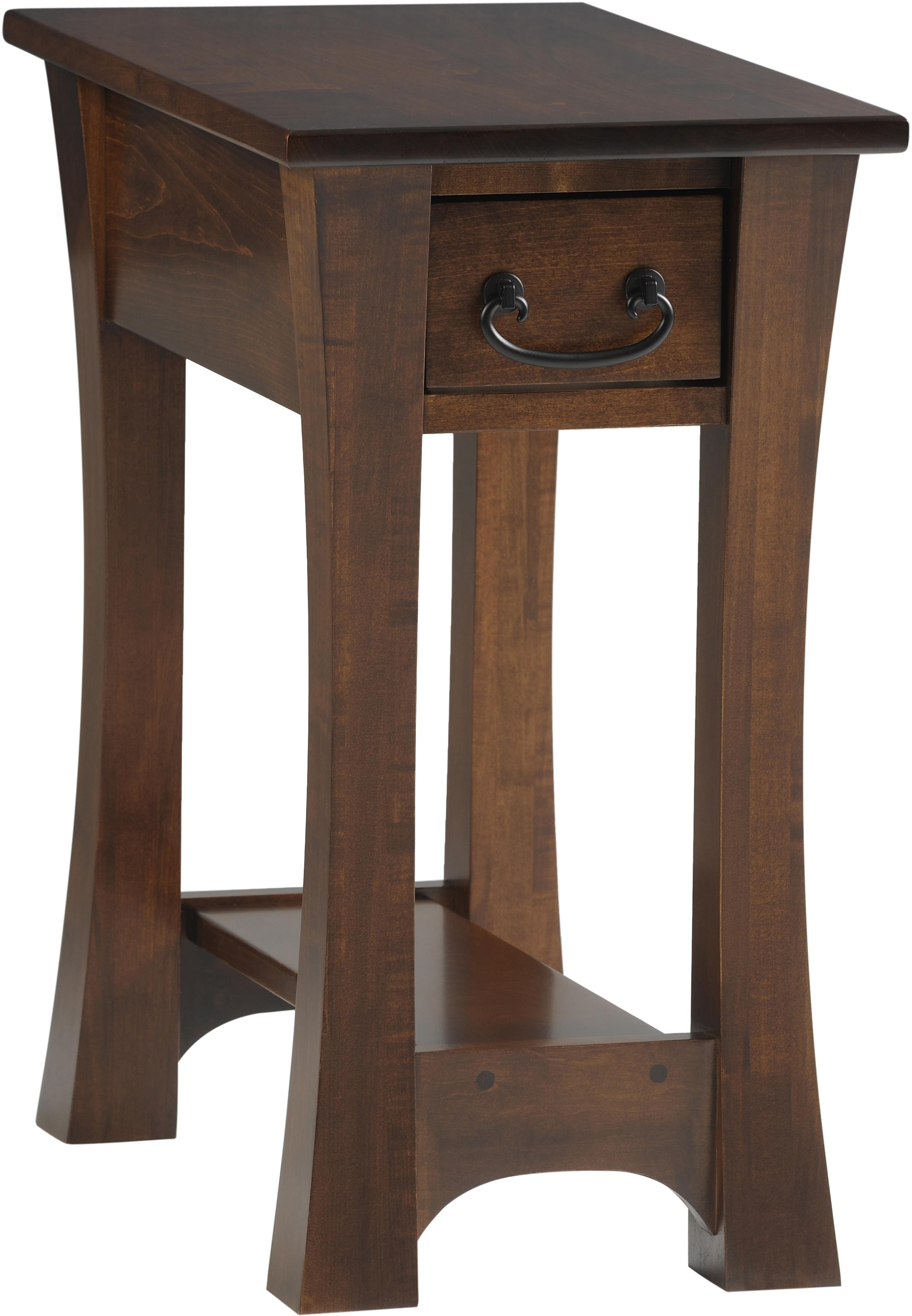 Woodbury Chairside Table by Y & T Woodcraft at Saugerties Furniture Mart