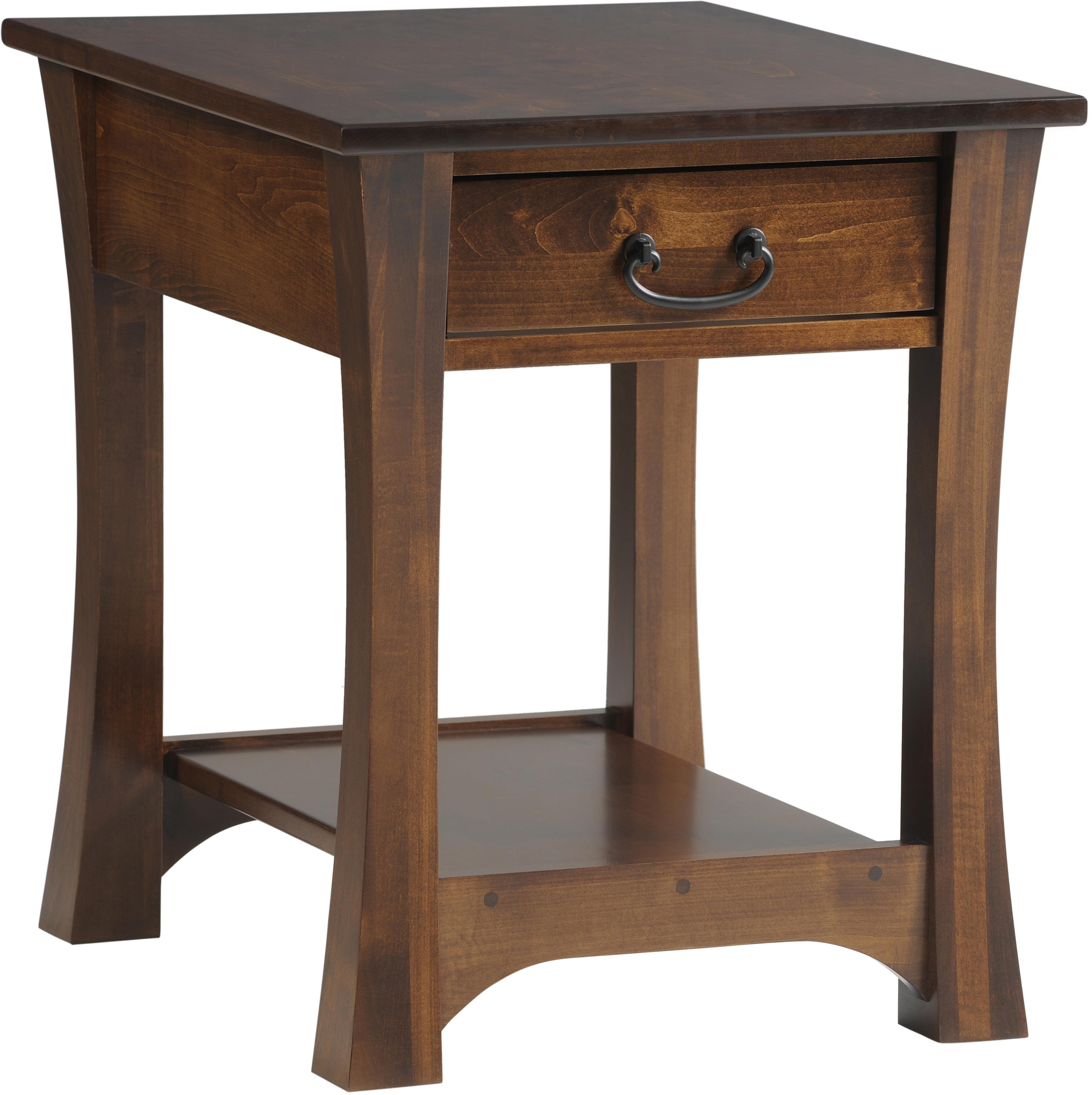 Woodbury End Table by Y & T Woodcraft at Saugerties Furniture Mart