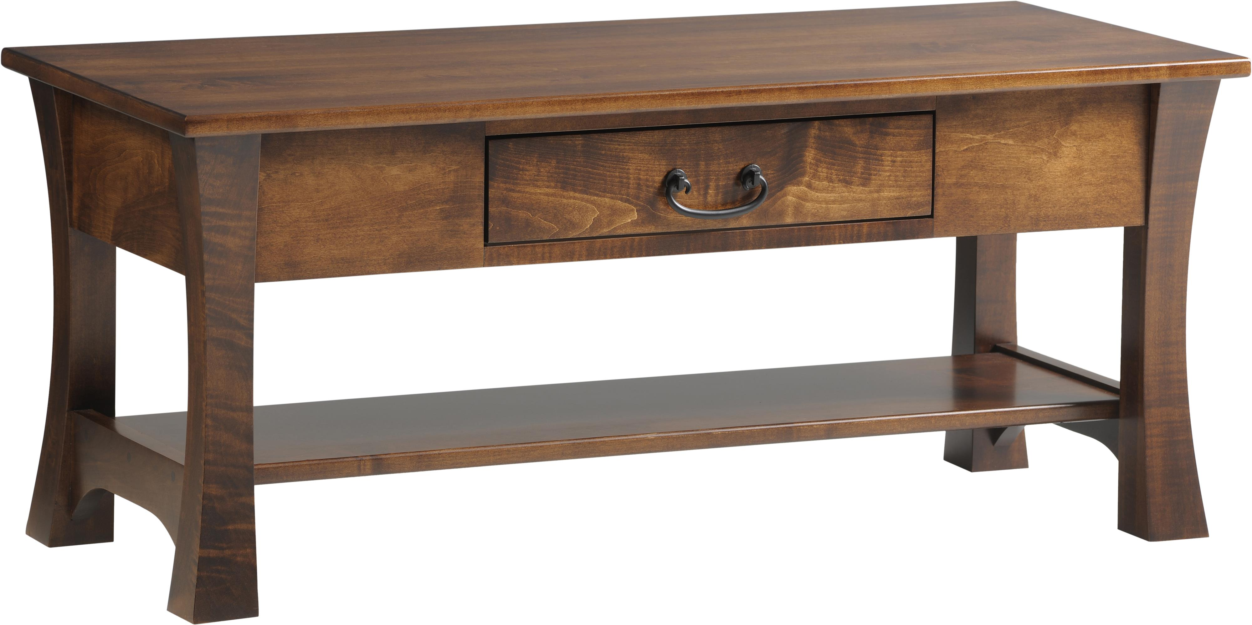 Woodbury Coffee Table by Y & T Woodcraft at Saugerties Furniture Mart
