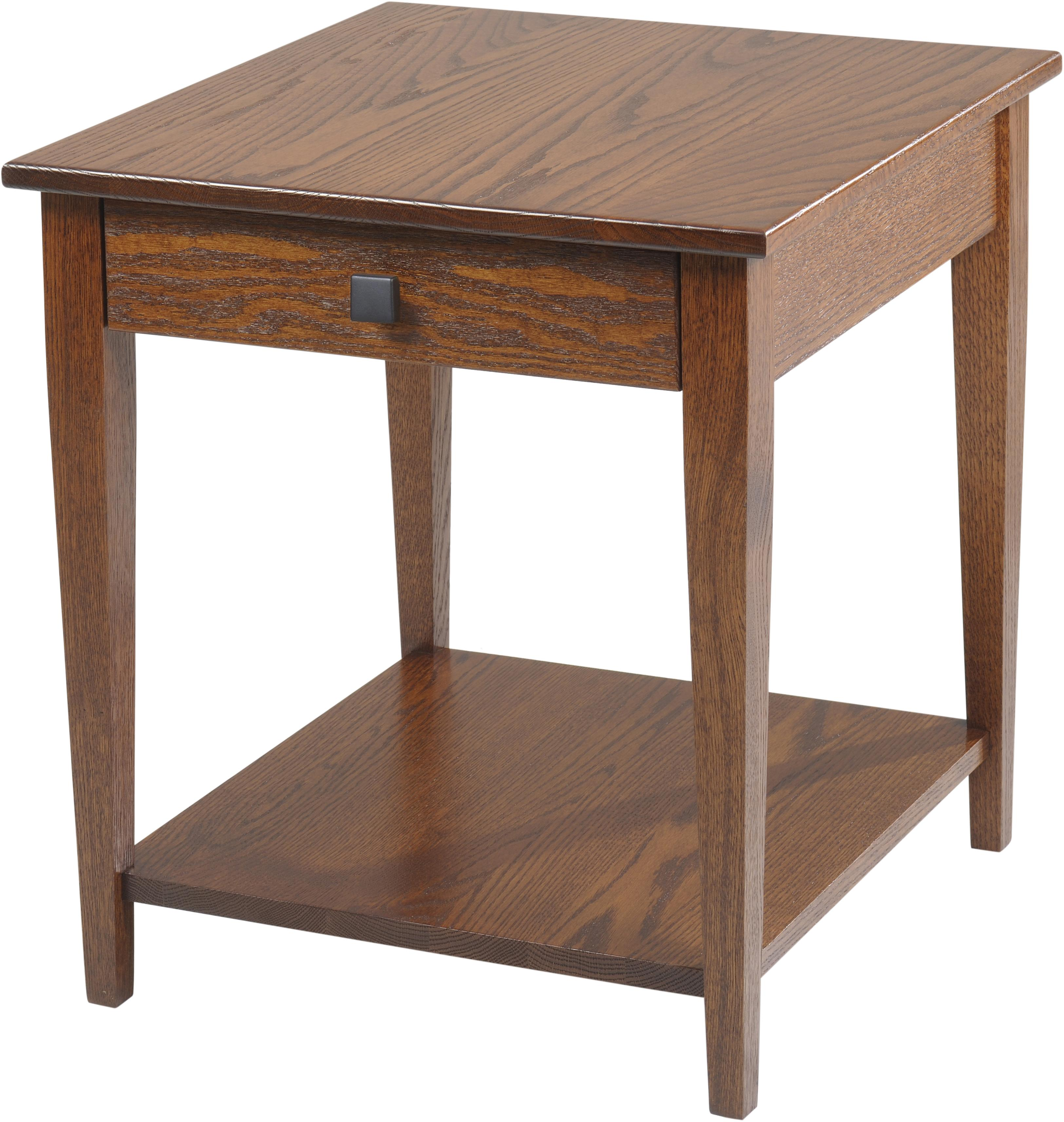 Woodland Shaker End Table with Shelf by Y & T Woodcraft at Saugerties Furniture Mart