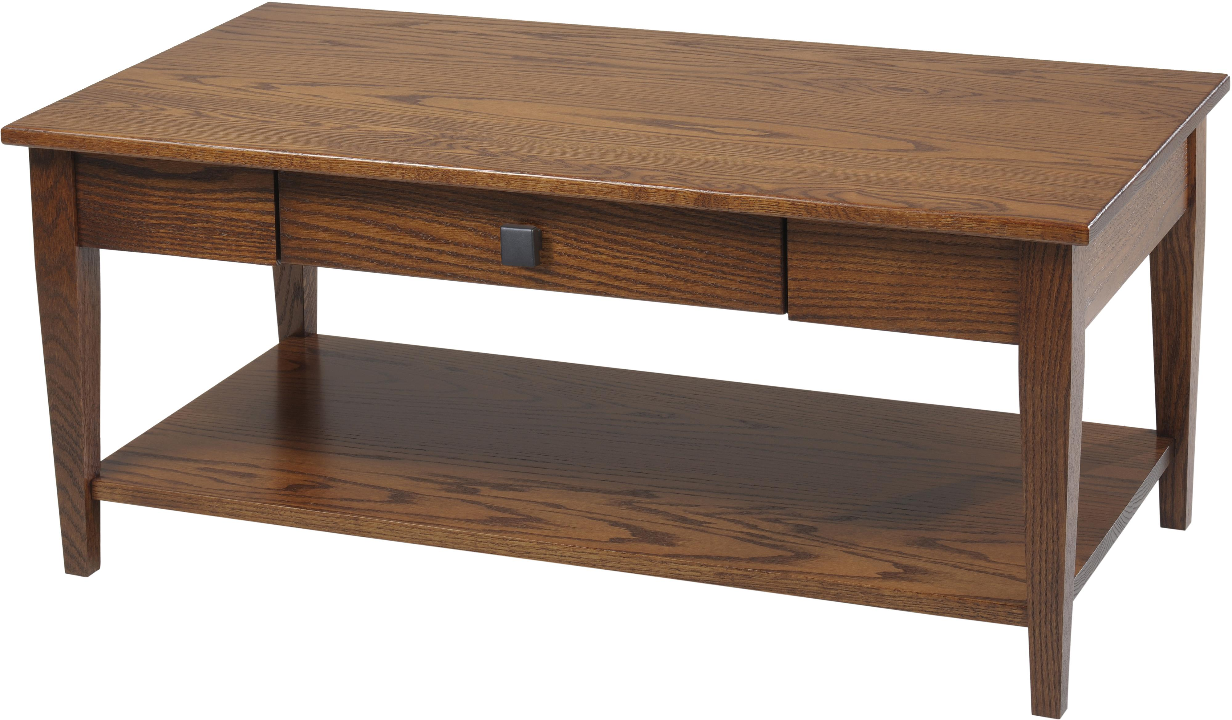 Woodland Shaker Coffee Table with Shelf by Y & T Woodcraft at Saugerties Furniture Mart