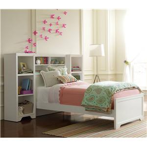 Young America All Seasons Twin Newberry Bookcase Bed & 2 Low Bookcases