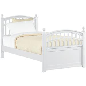 Young America All Seasons Twin Low Post Slat Bed