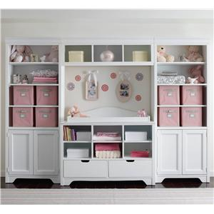 Young America All Seasons Dana Bookcase Set with Changing Station
