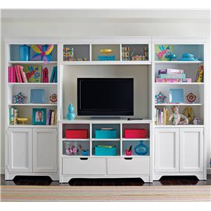 Young America All Seasons Dana Large Console & Bookcase Hutch Set