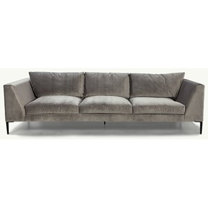 "Mid-Century Modern 104"" Sofa with Metal Legs"
