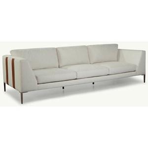 "Mid-Century Modern 104"" Sofa with Metal Legs"