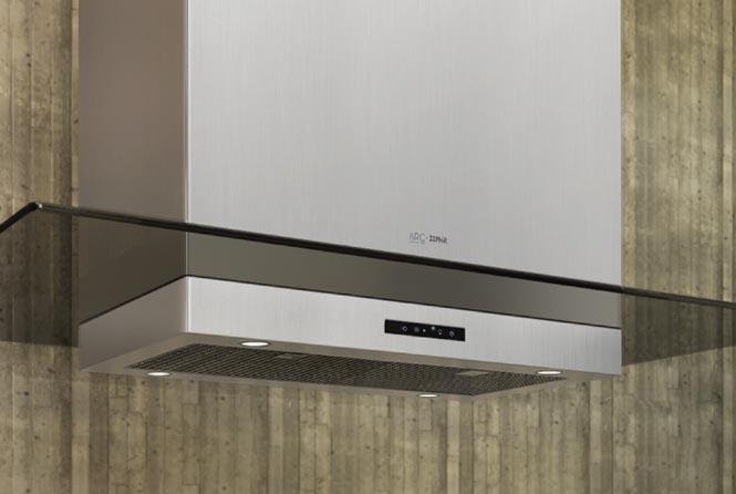 """Arc Collection 48"""" Island Range Hood by Zephyr at Furniture and ApplianceMart"""