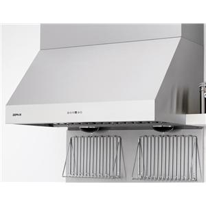 """Zephyr Essentials Collection- Chimney Wall and Downdraft 48"""" Wall-Mount Range Hood"""