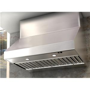 """Zephyr Essentials Collection- Chimney Wall and Downdraft 42"""" Wall-Mount Range Hood"""