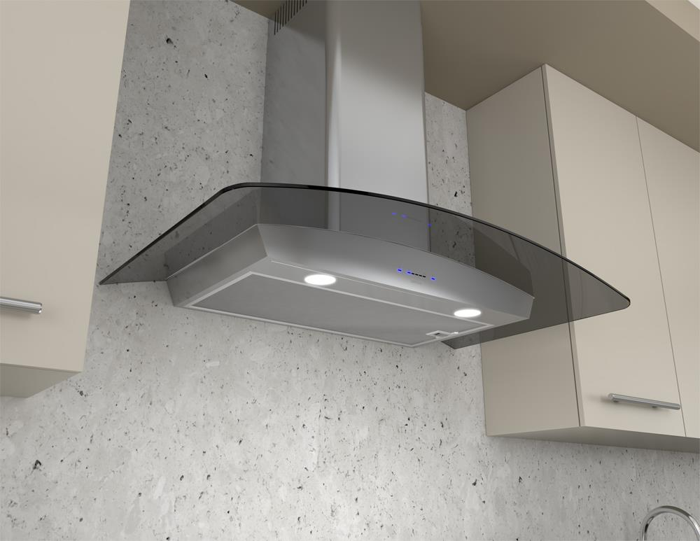 """Essentials Collection- Chimney Wall and Downdraft 30"""" Wall Mount Chimney Pro Range Hood by Zephyr at Furniture and ApplianceMart"""