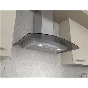 """Zephyr Essentials Collection- Chimney Wall and Downdraft 30"""" Wall Mount Chimney Pro Range Hood"""
