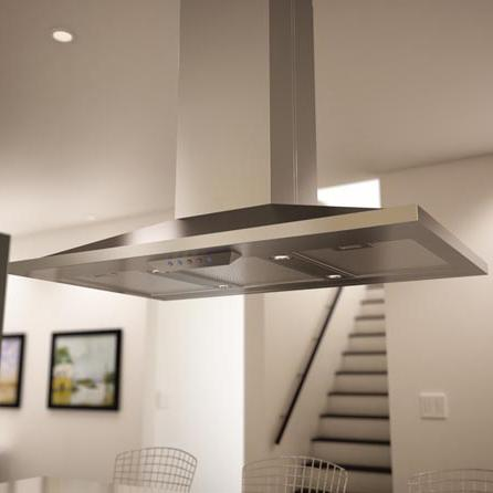 """Essentials Collection- Europa Island 36"""" Island Range Hood  by Zephyr at Furniture and ApplianceMart"""